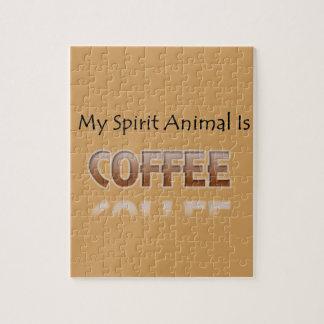 Mijn Dier van de Geest is Koffie Legpuzzel