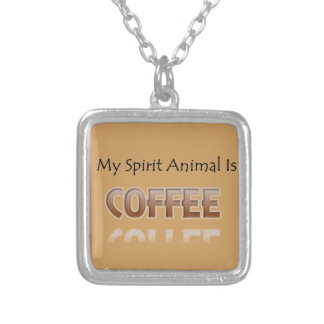 Mijn Dier van de Geest is Koffie Zilver Vergulden Ketting