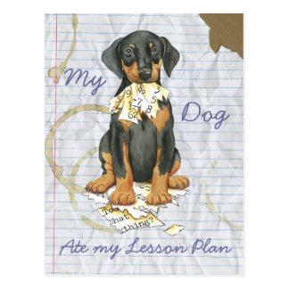 Mijn Doberman at Mijn Plan van de Les Briefkaart