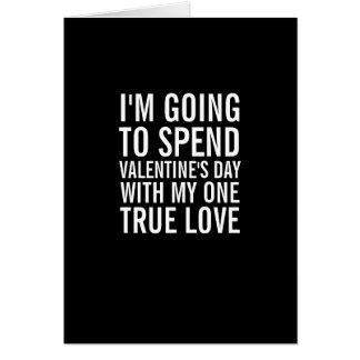 Mijn Één Ware Kaart van de Valentijnsdag van de