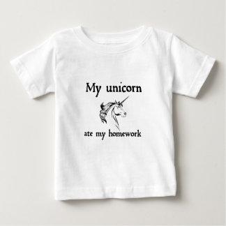mijn eenhoorn at mijn huiswerk baby t shirts