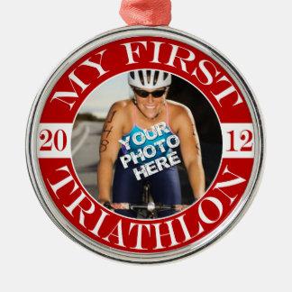 Mijn Eerste Triathlon - 2012 Zilverkleurig Rond Ornament