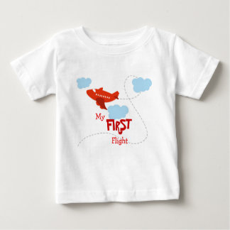 Mijn Eerste Vlucht Baby T Shirts