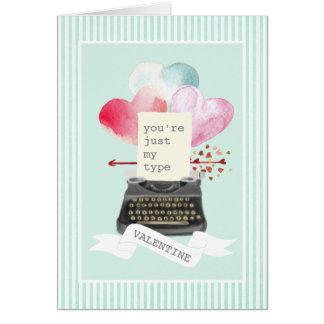 Mijn enkel Schrijfmachine van Valentijn van de Briefkaarten 0
