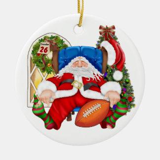 MIJN FAV! De Kerstman van het football - SRF Rond Keramisch Ornament