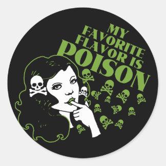 Mijn Favoriet Aroma is Vergift Ronde Sticker