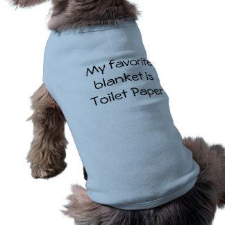 Mijn favoriete deken is toiletpapier shirt