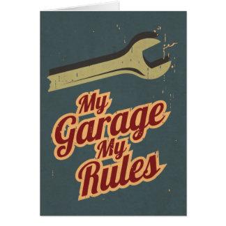 Mijn Garage Mijn Regels Wenskaart