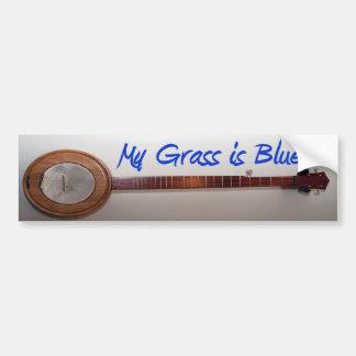 Mijn Gras is Blauw Bumpersticker