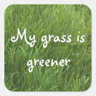 Mijn Gras is Groene Stickers