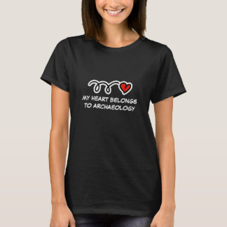 Mijn hart behoort tot archeologie de t-shirt van  