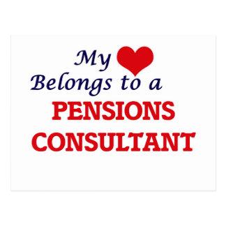 Mijn hart behoort tot een Adviseur van Pensioenen Briefkaart