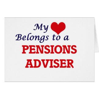 Mijn hart behoort tot een Adviseur van Pensioenen Wenskaart