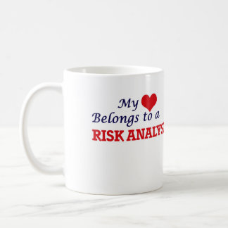 Mijn hart behoort tot een Analist van het Risico Koffiemok