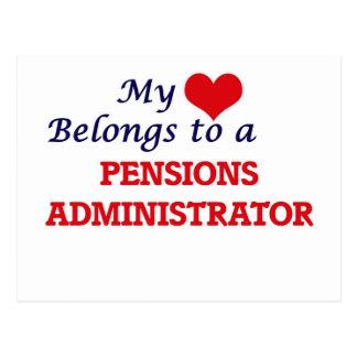 Mijn hart behoort tot een Beheerder van Pensioenen Briefkaart