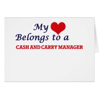 Mijn hart behoort tot een Contant geld - en - Wenskaart