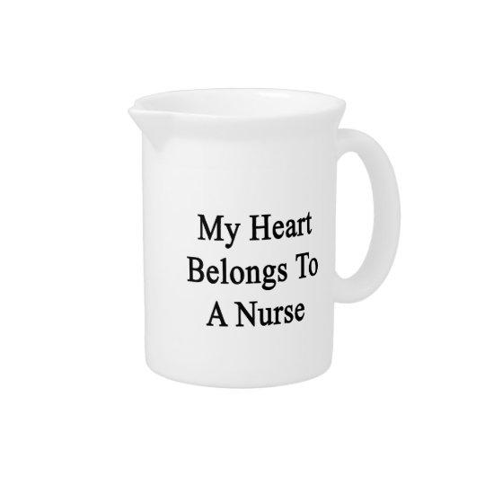 Mijn Hart behoort tot een Verpleegster Drank Pitcher
