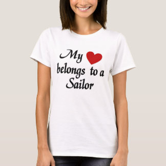 Mijn hart behoort tot een zeeman t shirt