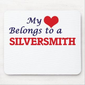 Mijn hart behoort tot een Zilversmid Muismat