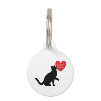 Mijn Hart behoort tot Mijn Naamplaatje van de Kat Huisdierpenning