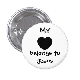 Mijn hart ronde button 3,2 cm