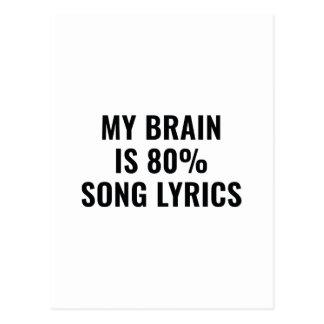 Mijn Hersenen zijn de Lyrische gedichten van het Briefkaart