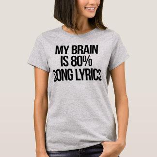 Mijn Hersenen zijn de Lyrische gedichten van het T Shirt