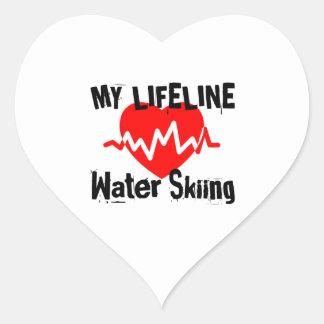 Mijn het Ski?en van het Water van de Lijn van het Hart Sticker