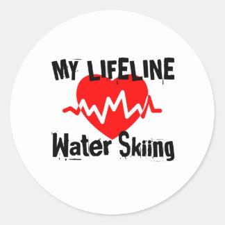 Mijn het Ski?en van het Water van de Lijn van het Ronde Sticker