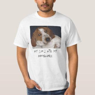 Mijn hond at mijn thuiswerk t shirt