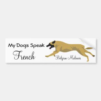 Mijn honden spreken het Frans Bumpersticker
