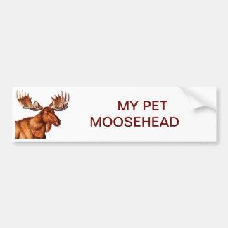 MIJN HUISDIER MOOSEHEAD BUMPERSTICKER