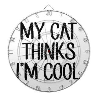 Mijn Kat denkt ik Koel ben Dartbord