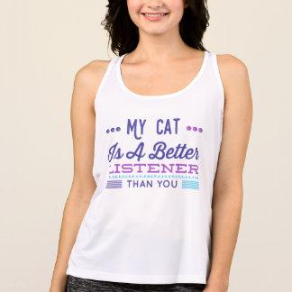 """""""Mijn Kat is Tanktop van het Saldo van een Betere"""