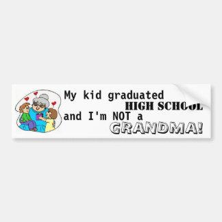 Mijn kind behaalde middelbare school een diploma e bumpersticker