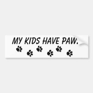 """""""Mijn kind de Sticker heeft van de poten"""" Bumper"""