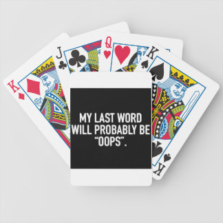 Mijn laatste woord bicycle speelkaarten