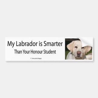 Mijn Labrador is Slimmer dan Uw Bedelaar van de St Bumpersticker