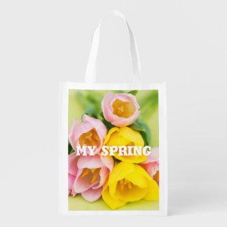 Mijn lente herbruikbare boodschappentas