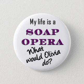 Mijn Leven is een Melodramatische serie Olivia Ronde Button 5,7 Cm