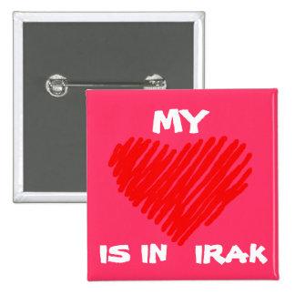 MIJN LIEFDE is in IRAK Vierkante Button 5,1 Cm
