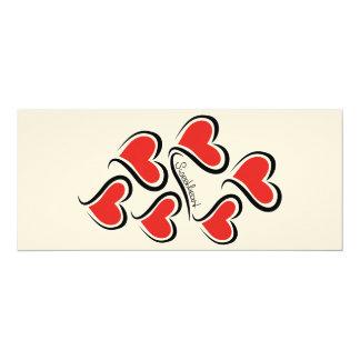 Mijn Liefje Valentijn 10,2x23,5 Uitnodiging Kaart