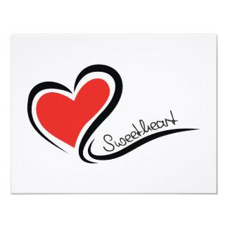 Mijn Liefje Valentijn 10,8x13,9 Uitnodiging Kaart