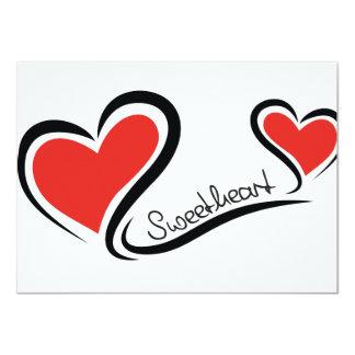 Mijn Liefje Valentijn 11,4x15,9 Uitnodiging Kaart