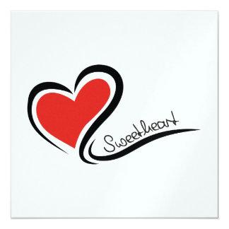 Mijn Liefje Valentijn 13,3x13,3 Vierkante Uitnodiging Kaart