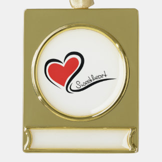 Mijn Liefje Valentijn Verguld Banner Ornament