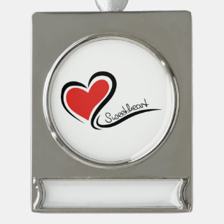 Mijn Liefje Valentijn Verzilverd Banner Ornament