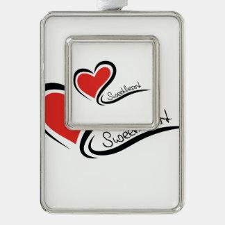Mijn Liefje Valentijn Verzilverd Omlijst Ornament