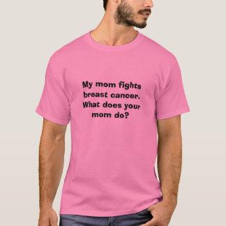 Mijn mamma bestrijdt borstkanker. Wat doet uw T Shirt