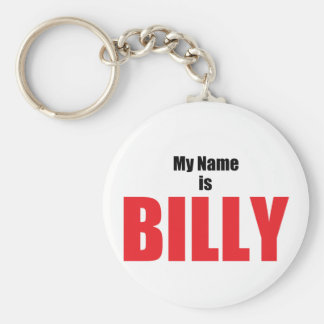 Mijn Naam is Billy Basic Ronde Button Sleutelhanger
